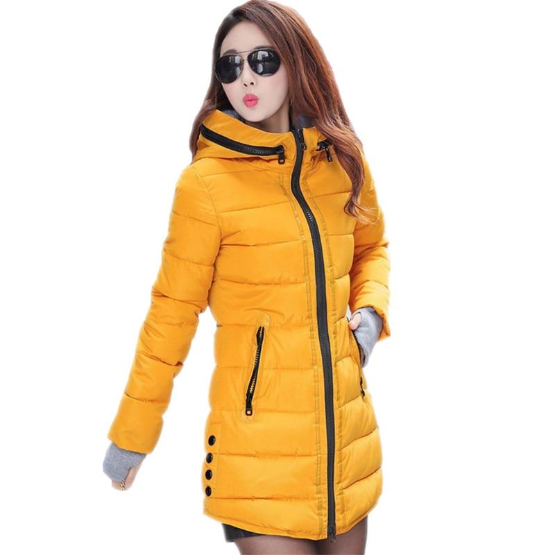 ФОТО Wadded Clothing Female 2016 New Women's Winter Jacket Down Cotton Jacket Slim Parkas Ladies Coats Plus Size M-XXL