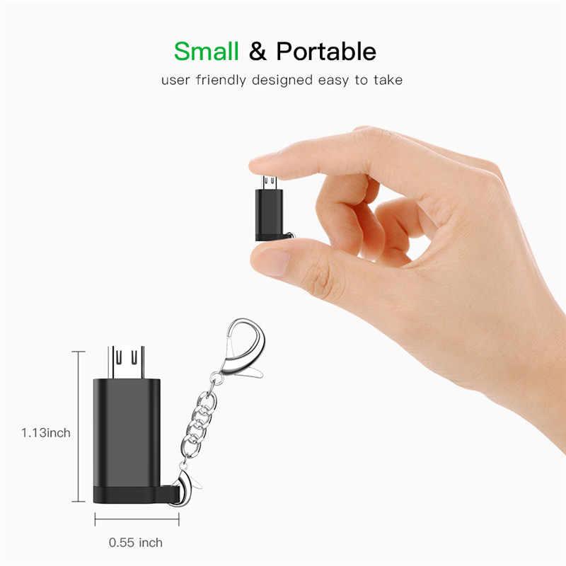 المصغّر USB كابل محول المصغّر USB ذكر إلى Type-C أنثى محول USB OTG بيانات محول ل سامسونج شاومي هواوي