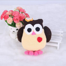 Handmade DIY Owl Doll Toy Crochet Kit Amigurumi Kit for Kids Beginners Crafts(China)