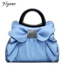 Flyone Handbags Fashion Brand Top-Handle Bags Women Girls Leather bags Bow Luxury Women Tote Bag  Bow Ladies Hand Bag