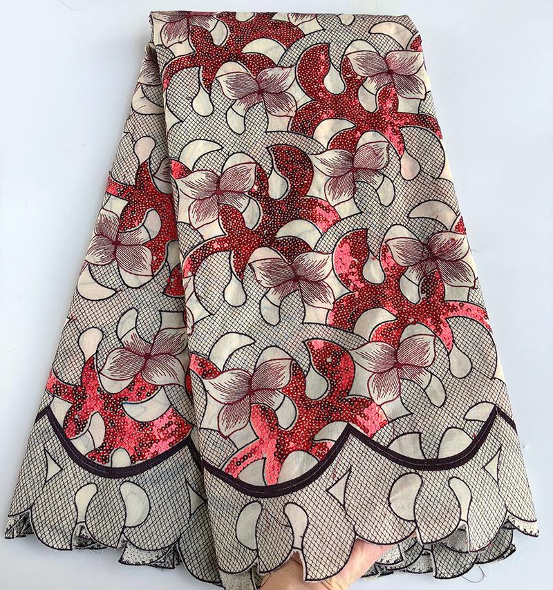 Мудрый выбор 5yards африканская швейцарский кружева вуаль кружева в нигерийском стиле хлопок 100% Швейные ткань высокого качества