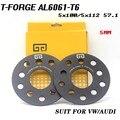 2 stks Legering Aluminium Wiel Spacer Van De PCD 5-112mm HUB 66.6mm 5mm Dikte Wiel adapter pak voor Mercedes-Benz