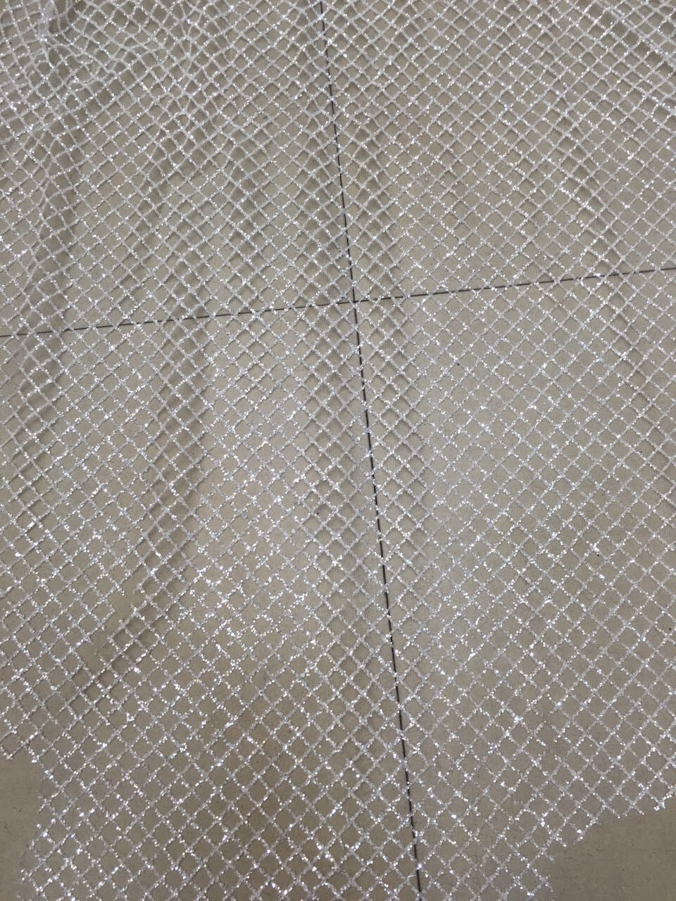 New arrival white french net lace fabric with glued glitter hot sale african tulle lace fabric