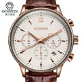 2017 OCHSTIN Men Sport Top Brand Luxury Leather Quartz Watch Men's Fashion Casual Big Dial Date Wristwatch reloj hombre