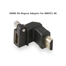 Tilta TA T01 HDA 90 adaptador HDMI, 90 grados, negro, para BMPCC 4K