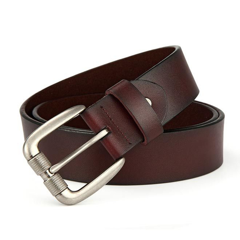 Back To Search Resultsapparel Accessories El Barco Cowhide Leather Belt Men Black Brown Luxury Brand Designer Male Belts Navy Blue Coffee Business Casual Waist Strap