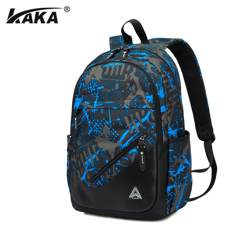 KAKA Brand Men Backpack School Bag for Teenagers Oxford Backpacks Preppy Style Casual Large Capacity Mochila longmiao men oxford camouflage backpack preppy style camo school backpacks for teenagers uk flag large capacity travel bags