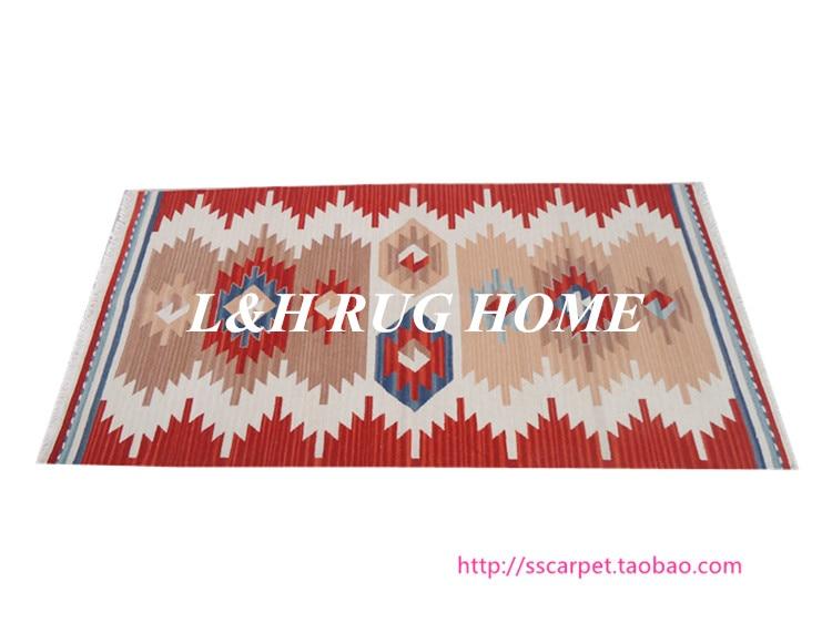 Livraison gratuite 740x1440mm kilim tapis tapis en laine noués à la main tapis en laine kilim style turc