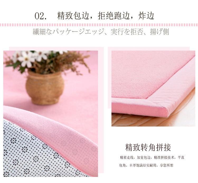 Baby Play Mat Coral Velvet Antiskid Design Crawling Mat  Baby Carpet Mat for Children Game Pad Super Soft Comfortable Playmat  (9)
