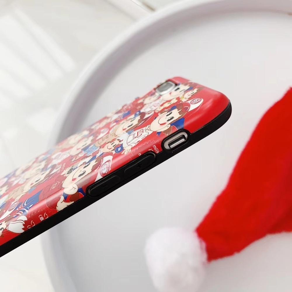 Japan cartoon fujiya peko cute Soft Case for iPhone 6 6sPlus 7 7Plus 8 8Plus X XS XR XS Max phone cover Coque Hull Shell Fundas