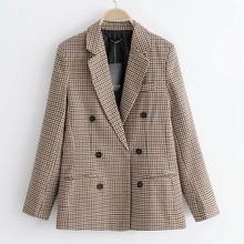 Plaid Women Suits Blazer Autumn Winter 2020 Fashion Blend Co