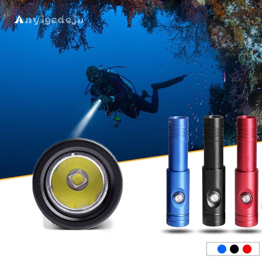 ANYIGEDEJU DIV12S LED lampe de plongée XML2 1000lm LED lampe torche de plongée primaire sous-marine 200 M utilisation sous-marine 1*18650 lampe de batterie