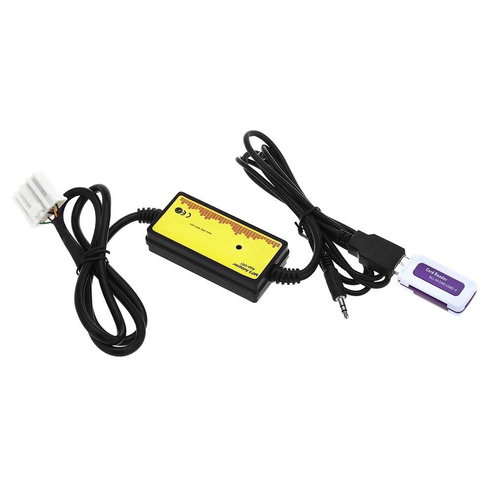 imágenes para Interfaz De Audio del coche MP3 USB Cable de Datos 8 P Conectar CD Cambiador de SSD/SHSD/Mmc Y memoria USB de juego DC 12 V para Toyota