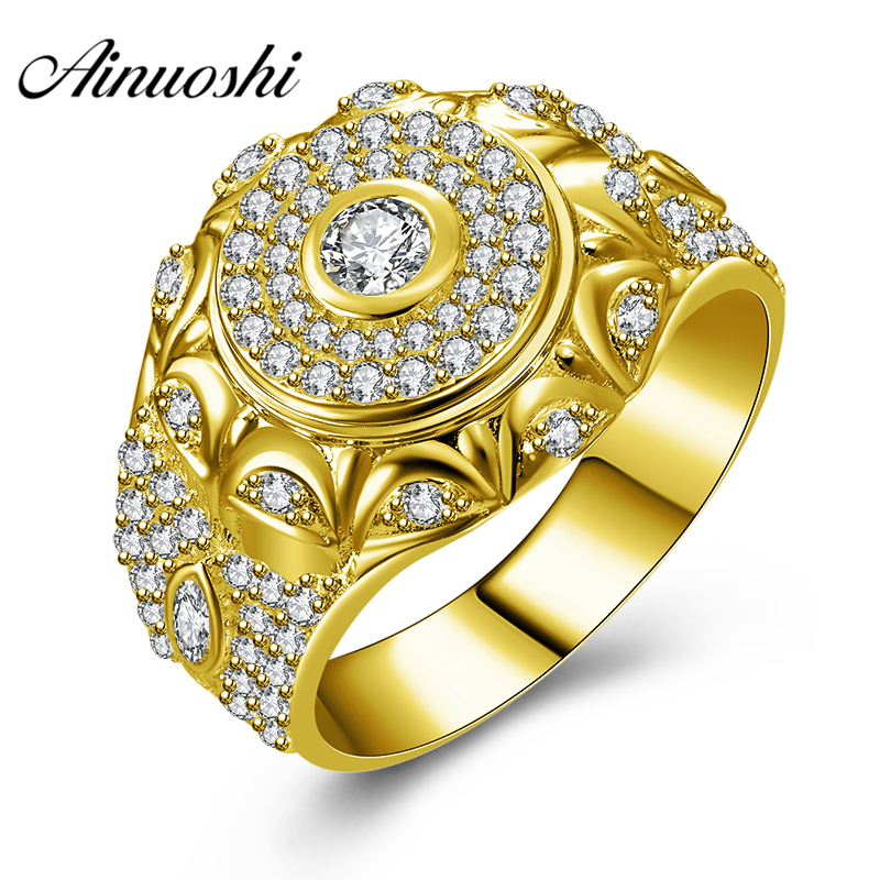 AINUOSHI Luxury 10K Solid Yellow Gold Men Ring 7.1g Wedding Band Exquisite Round Ring Wedding Engagement Gold Jewelry Men BandAINUOSHI Luxury 10K Solid Yellow Gold Men Ring 7.1g Wedding Band Exquisite Round Ring Wedding Engagement Gold Jewelry Men Band
