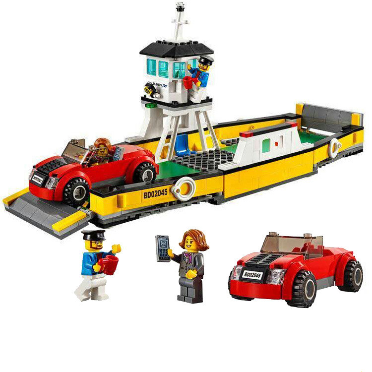 LEPIN City Great Vehicles Ferry Building Blocks Sets Brick Classic Model Kids Toys For Children Technic Gift Compatible Legoings 2017 enlighten city bus building block sets bricks toys gift for children compatible with lepin