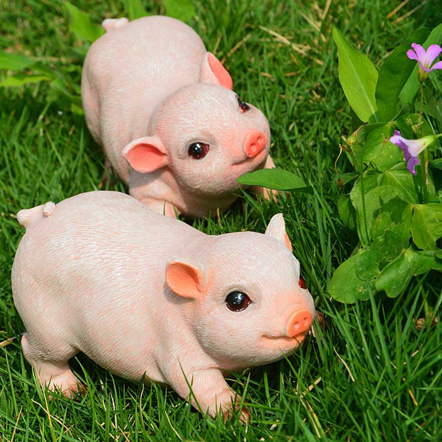 2pcs mini high quality cute pink pig animal ornaments available for home gardening decoration and home decoration