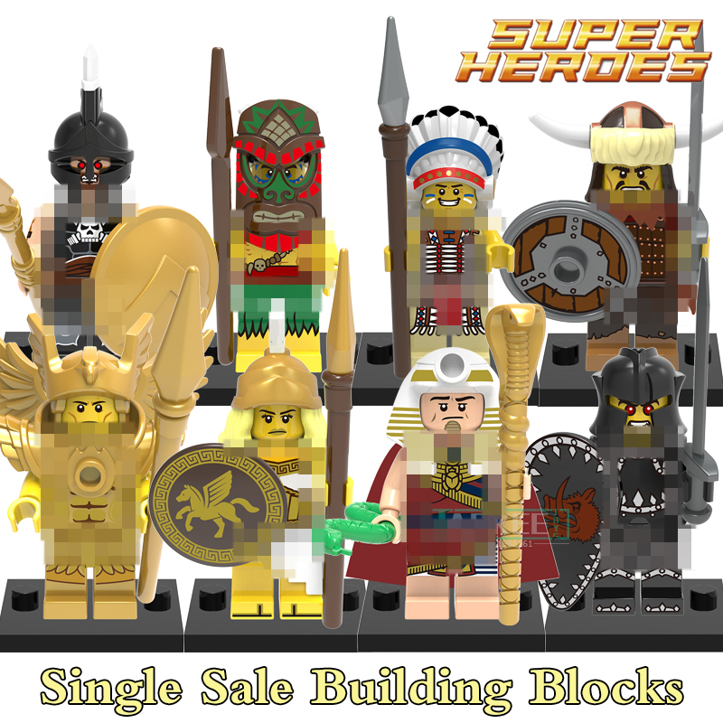 Building Blocks X0163 Tutankhamun Hun Warrior Saint Seiya Super Hero Star Wars Bricks Dolls Kids DIY Toys Hobbies QUEST Figures building blocks agent uma thurman peeta dc marvel super hero star wars action bricks dolls kids diy toys hobbies kl069 figures