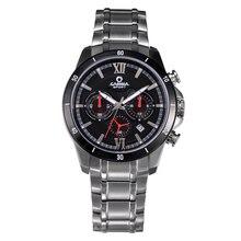 CASIMA relógios de marca dos esportes da forma dos homens quentes de luxo clássico dos homens multi função relógio de quartzo de aço inoxidável à prova d' água #8301