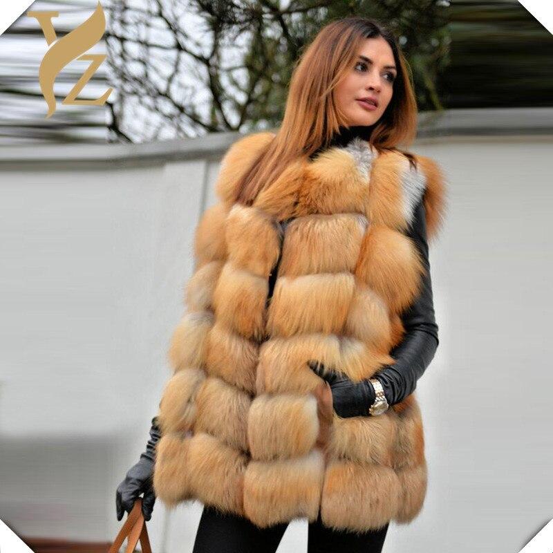 Couvert Fourrure Conception Chaud Bouton Vestes Nouveau Gilets Réel Naturel Rouge Gilet Fur Renard Manteau De Femmes Red 100 Entier Fox qPPO6t