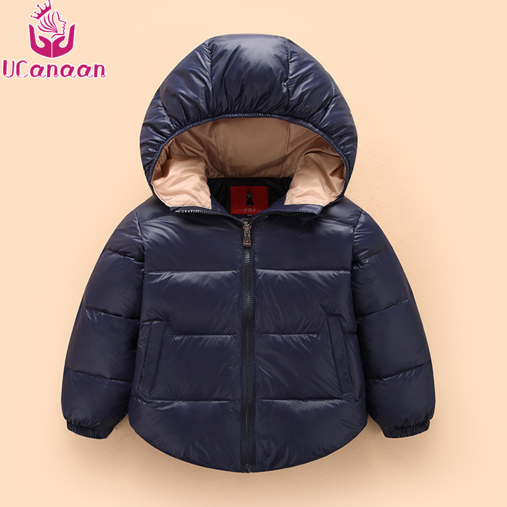 2-7Y Fashion Winter Down jacket Coat Children Thick Warm Hooded Kids  Soft Outerwear for Baby Girls Boys Clothing immdos children coat for girl winter wool outerwear kids long sleeve hooded warm baby clothing girls solid fashion jacket