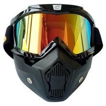 Мотокросс Шлем Маска Очки Ветрозащитный Шлем Маска Съемные Очки С Рот Фильтр