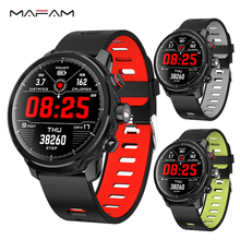 MAFAM L5 Smart Watch Men Waterproof Bluetooth Heart Rate Sports Pedometer Swimming IP68 Smartwatch Call Reminder For IOS Android bluetooth 4 0 call message reminder sports pedometer anti lost heart rate monitor steel strap smartwatch for android ios