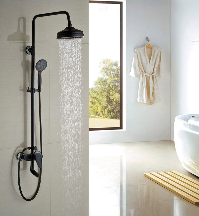New Arrival 8 Shower Sets Round Shower Head And Handle Shower Single Handle Hot&Cold Tap