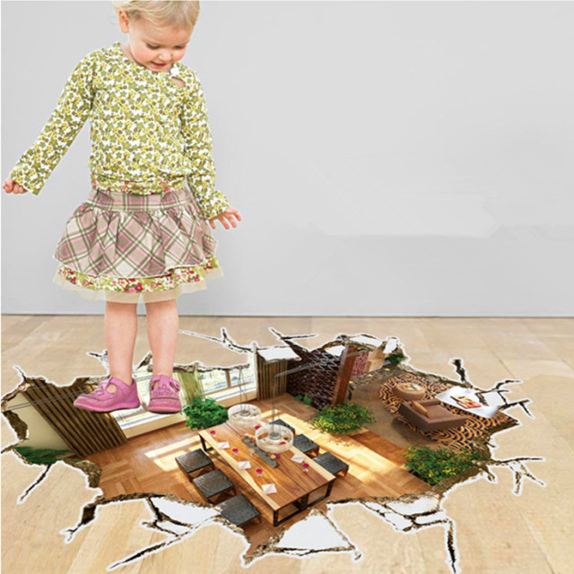 Aliexpresscom Buy Latest Creative DIY 3D Floor Sticker Living