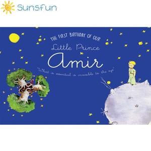 Image 2 - Sunsfun photography backdrop little prince theme birthday party moon stars background photocall photo studio photobooth