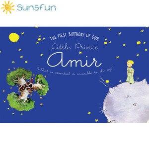 Image 2 - Sunsfun التصوير خلفية الأمير الصغير موضوع حفلة عيد ميلاد القمر نجوم خلفية فوتوكالر صور استوديو كشك الصور