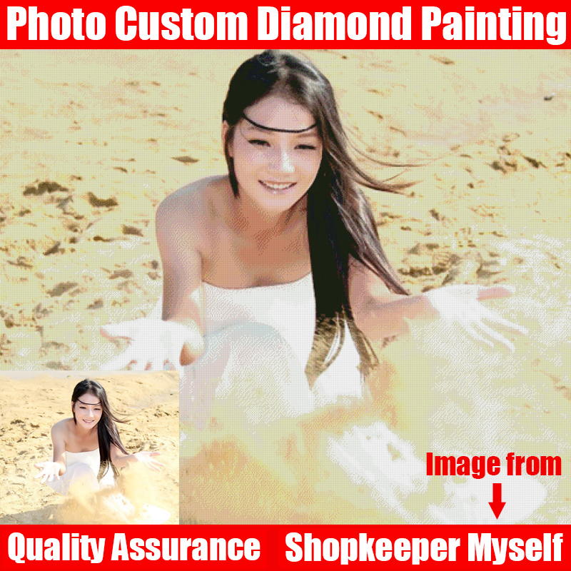 HOMFUN 5D DIY PHOTO CUSTOM Diamond Painting