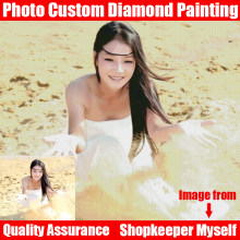 HOMFUN 5D DIY PHOTO CUSTOM Diamond Painting Picture of Rhinestones Diamond Embroidery Beadwork 5D Cross Stitch Home Decor(China)