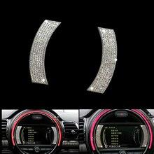 For Mini Cooper F56 F55 F54 Interior Dashboard Diamond Stickers Instrument Navigation Decoration Clubman MINI