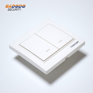 Image 4 - Z Wave plus EU Frequency 868.42MHz Two Channel Wall Mounted Switch socket TKB home TZ57 86X86mm type ( replace TZ65S TZ66S )