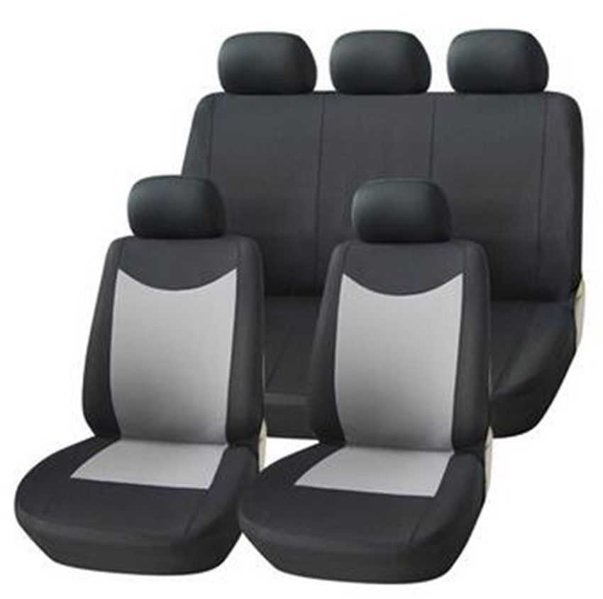 Universal 9PCS Mesh Fabric Auto Interior Accessories Classic Design Styling Car Seat Covers Universal Car-cases Protector suv