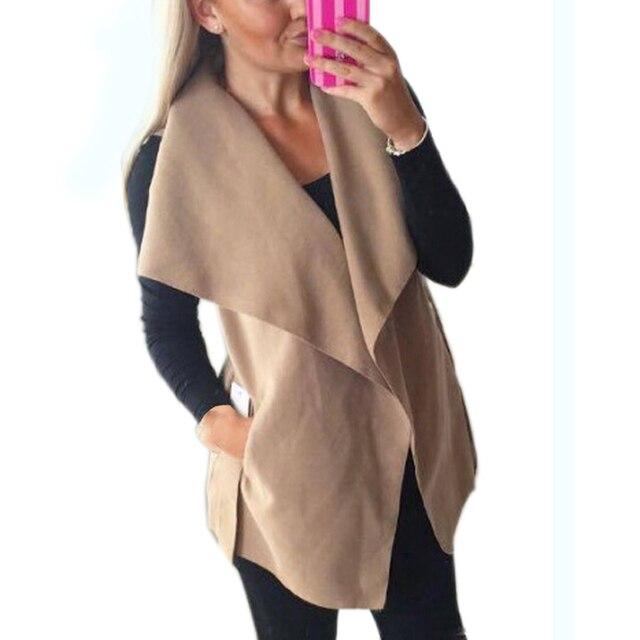 3 Colors Women Jackets Costs 2017 Fashion Women Vest Jacket Sleeveless Bandage Wasitcoat Female Belts Warm Coat Outwear GV392