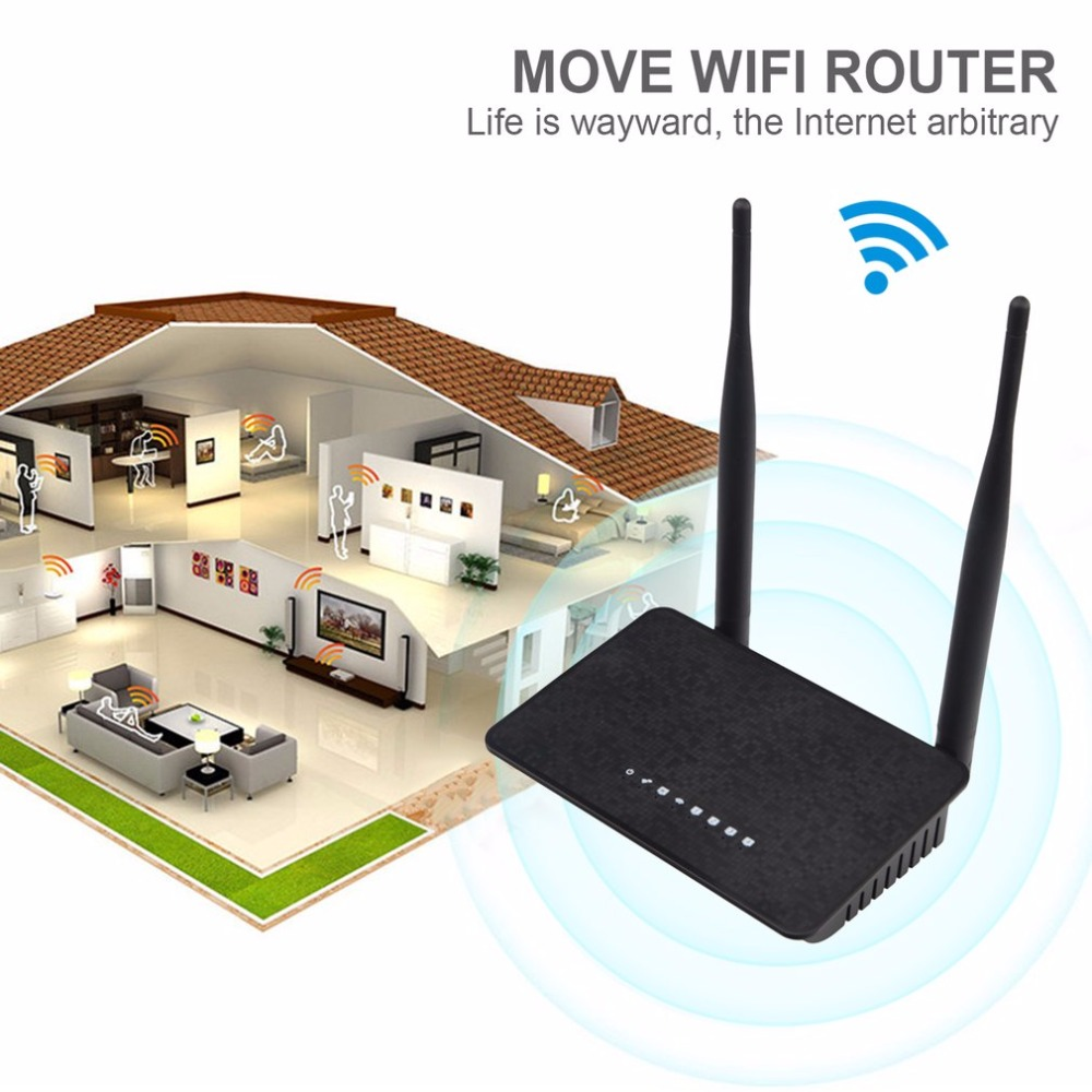300Mbps Wireless WiFi Router 1WAN + 4LAN Ports 802.11b/g/n MT7628KN Chipset 2.4Ghz Wi-Fi Repeater Booster With Fixed Aerial