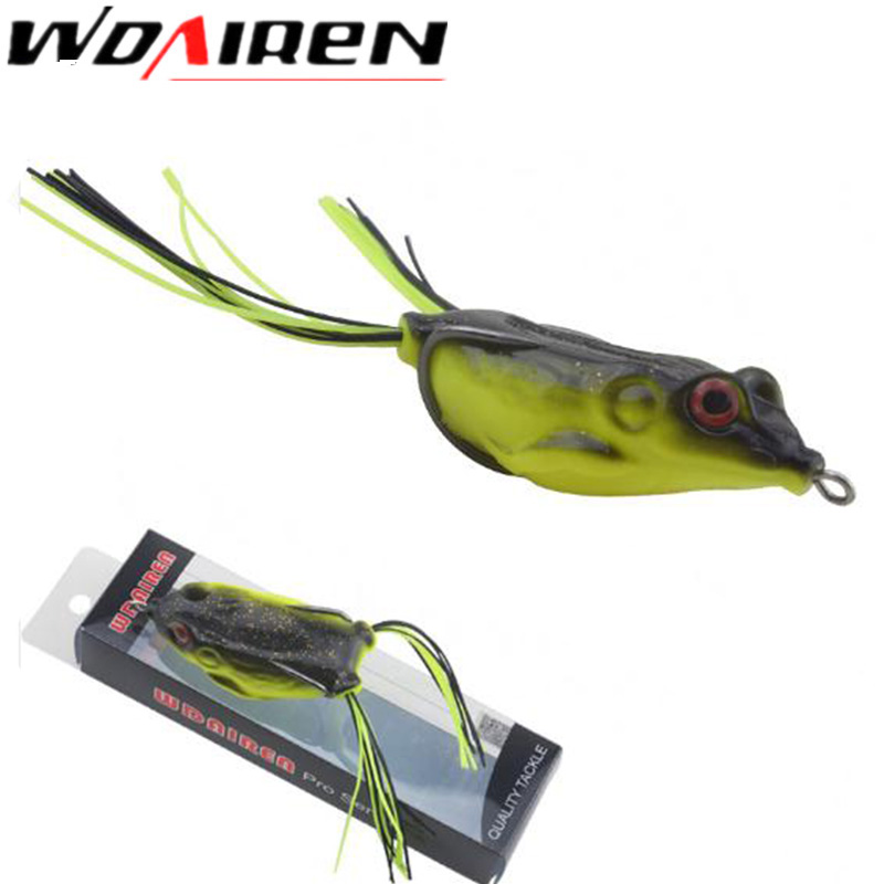 WDAIREN High Quality Kopper Live Target Frog Lure 6cm/12g Snakehead Lure Topwater Simulation 1Pcs Frog Fishing Lure WD-036 high quality frog fishing lures 5g 10g 15g 16g multi colors snakehead lure topwater soft bass bait frog lure fishing tackle