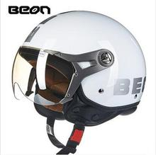 2016 Newest Fashion Lightweight BEON Half face mototcycle helmet Retro air force Harley style ABS motorbike helmet B-100