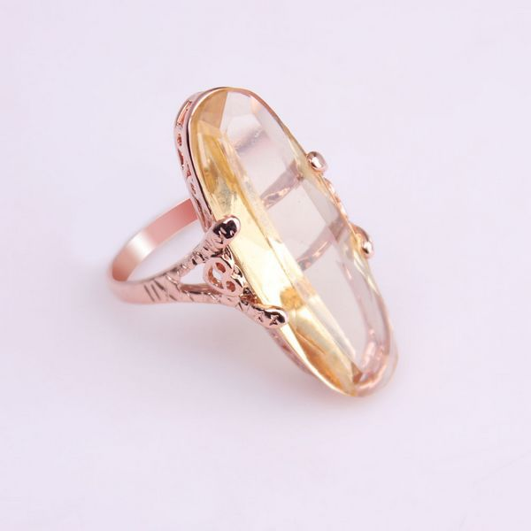Min order $15 Promotion Christmas t Gold Ring Big Green Stone