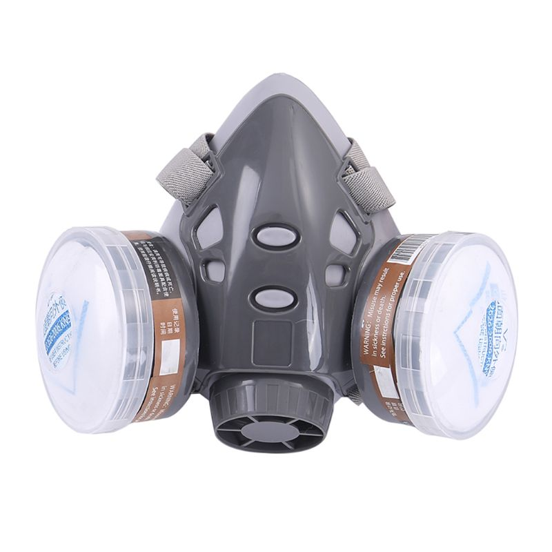 Free Shipping 1Set 308 Half Face Respirator Dust Gas Mask For Painting Spray Pesticide Chemical Smoke Fire Protection