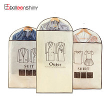 Suit Cover Coat Clothes Garment Outer Dress Dust Proof Storage Bag Clothes Dust Cover