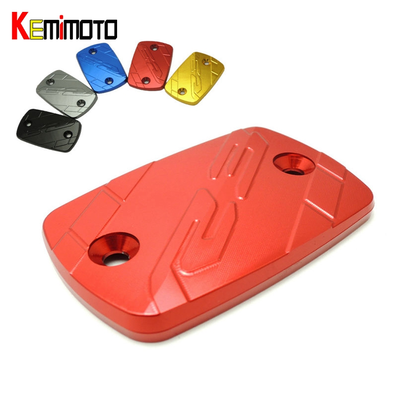 KEMiMOTO For Yamaha R3  Motorcycle CNC Front  Brake Fluid Reservoir Cap Cover For Yamaha YZF R3  YAF-R3 2014-2015 mfs motor motorcycle part front rear brake discs rotor for yamaha yzf r6 2003 2004 2005 yzfr6 03 04 05 gold