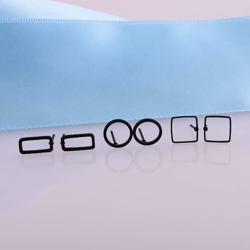 2019 New 3 colors Simple Women Stud Earring  Geometric Elements Hollow Round/Rectangle/Square Earrings Cheap Jewelry Wholesale gold earrings for women