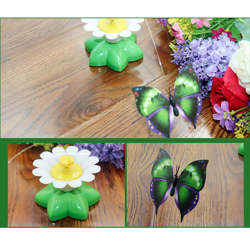 New cat interactive puzzle pet toy new design of the electric butterfly bird flower environmental protection toys