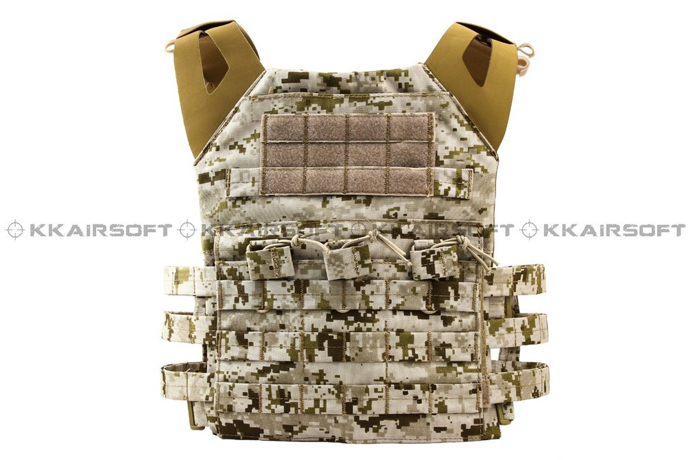 military tactical vest molle 1000D Airsoft Emerson JPC Tactical Vest Simplefied Version (AOR1 AT Marpat Woodland) em7344e emerson navy seals combat set bdu uniform aor1 mc at marpat woodland em6914