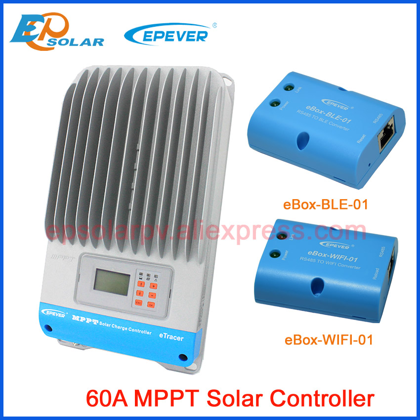 EPSOLAR ET6415BND 60A MPPT regolatore di carica solare con eBox WIFI e la funzione Bluetooth 12 v 24 v 36 v 48 v lavoro autoEPSOLAR ET6415BND 60A MPPT regolatore di carica solare con eBox WIFI e la funzione Bluetooth 12 v 24 v 36 v 48 v lavoro auto
