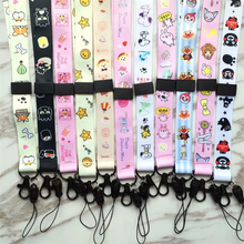 QIKEFANG Cute Cartoon Neck Strap Lanyards for keys ID Card Gym Mobile Phone Straps USB badge holder DIY Hang Rope Lariat Lanyard cute cartoon neck strap lanyards for keys id card gym mobile phone straps usb badge holder diy hang rope lariat lanyard