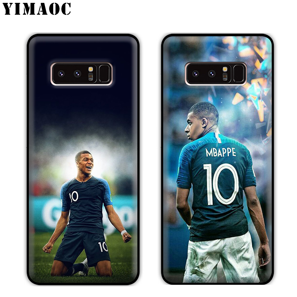 YIMAOC Mbappe football Pogba Soft Silicone Case for Samsung Galaxy Note 10 Plus 9 8 A9 A8 A6 Plus 2018 A5 A3 2017 2016 in Fitted Cases from Cellphones Telecommunications