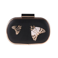 Fashion 3D Butterfly Clutches Bag Sequined Diamonds Evenning Bag Crystal Party Purse For Women Handbag Long Chain Shoulder Bags